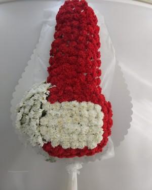 Çelenk Kırmızı Beyaz Papatya